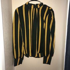 Green and Yellow Sheer Shirt